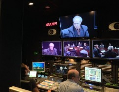 The Broadcast Center at work on a presentation. Photo courtesy of Jeffrey Himpele.