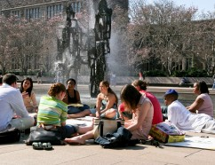 Students studying outdoors during the warmer months. Photo: Princeton University, Office of Communications.