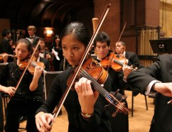 Photo of orchestra performing
