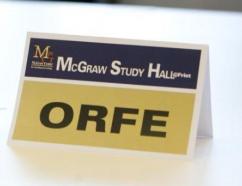 McGraw Study Hall Sign