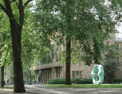 Morrison Hall with Oval Sculpture