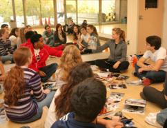 Freshman Seminar in the Wilcox Dance Studio