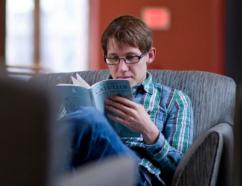 Photo of student reading Catullus