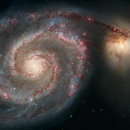 Photo of a distant galaxy