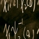 Photo of equations on chalk board