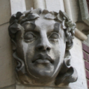 Photo of carving on building