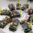 Photo of small robotic cars