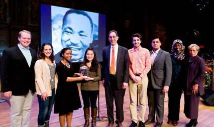 Students from the Princeton Hidden Minority Council after receiving the Martin Luther King Day Journey Award. Photo by Denise Applewhite, Office of Communications.