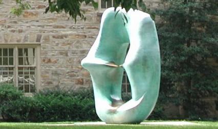 Sculpture outside of Morrison Hall