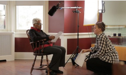 Student Emmy Bender interviews Trenton High alumna Jo Carolyn Dent-Clark