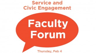 Announcement for the Faculty Forum on Service and Civic Engagement.