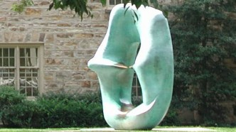oval with points sculpture