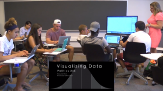 Kosuke Imai's Visualizing Data class. Image courtesy of the McGraw center for Teaching and Learning.